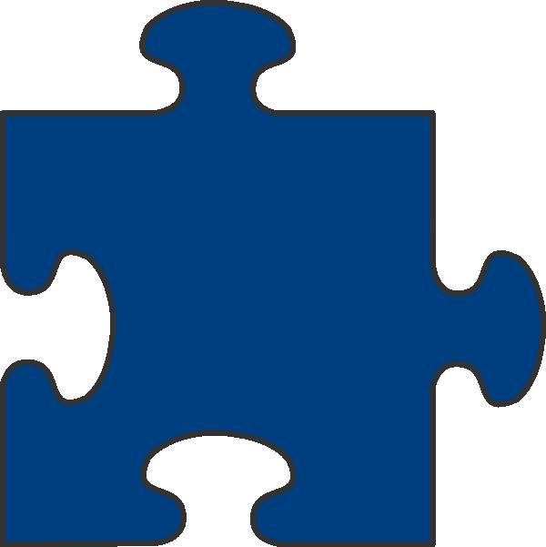 Blue border piece top. Puzzle clipart man