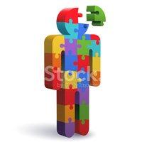 Jigsaw thinking stock vectors. Puzzle clipart man