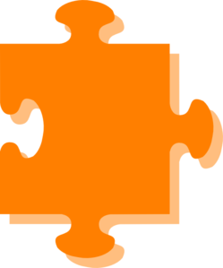 Puzzle clipart orange. Clip art at clker