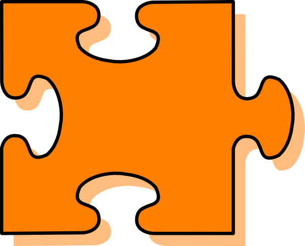 Piece clip art at. Puzzle clipart orange