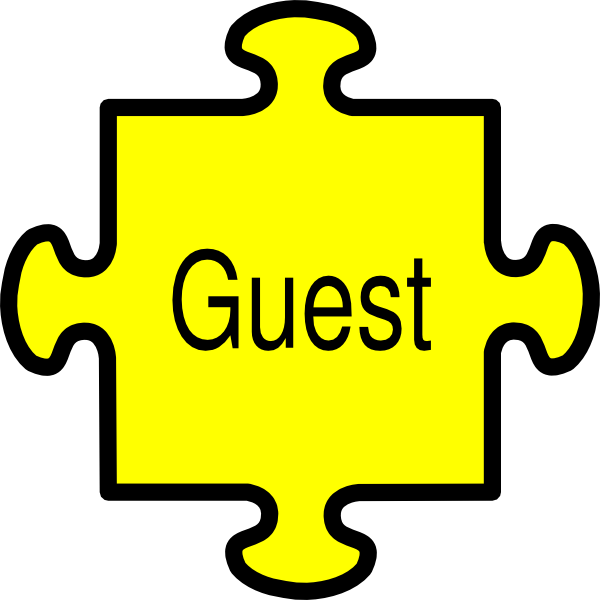 Jigsaw guest yellow clip. Puzzle clipart p word
