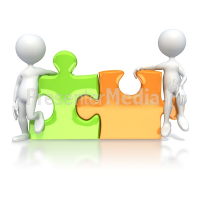 Pieces connected education and. Puzzle clipart partner