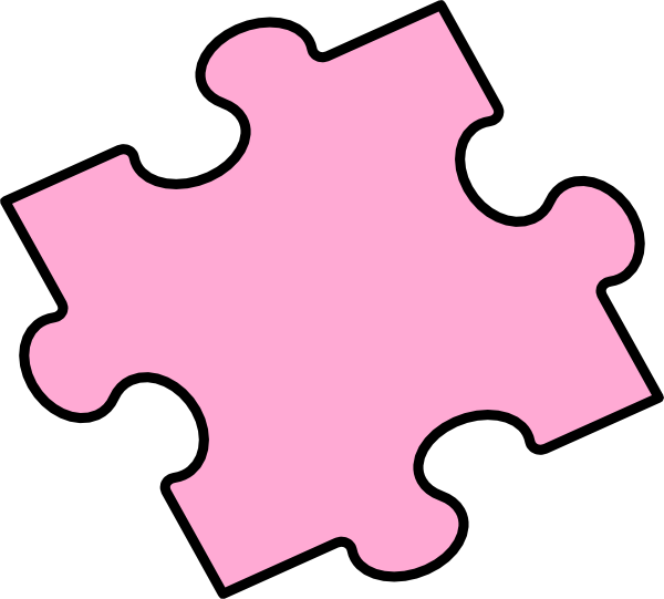 Piece clip art at. Puzzle clipart pink