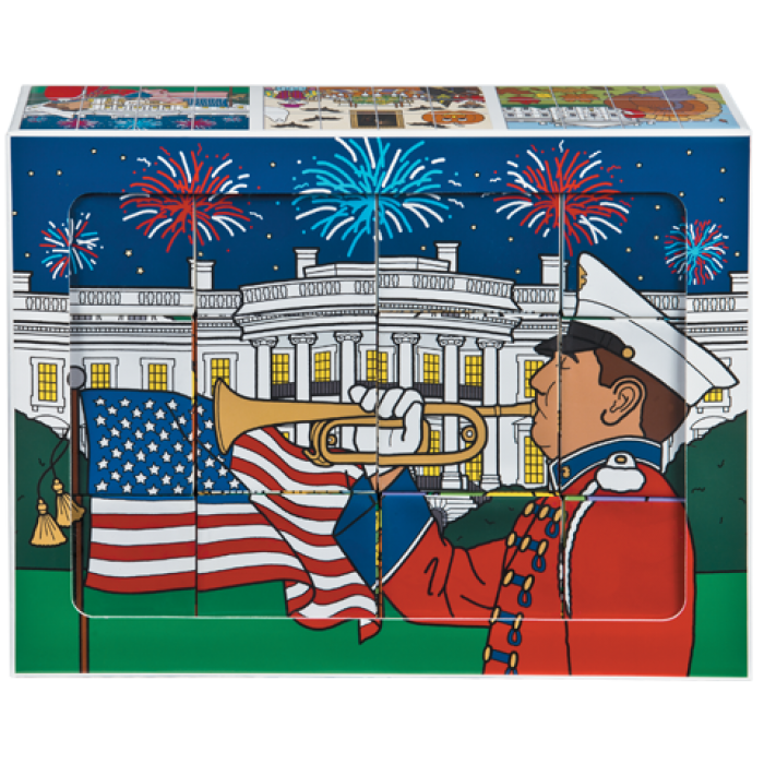 White house holiday the. Puzzle clipart playing block