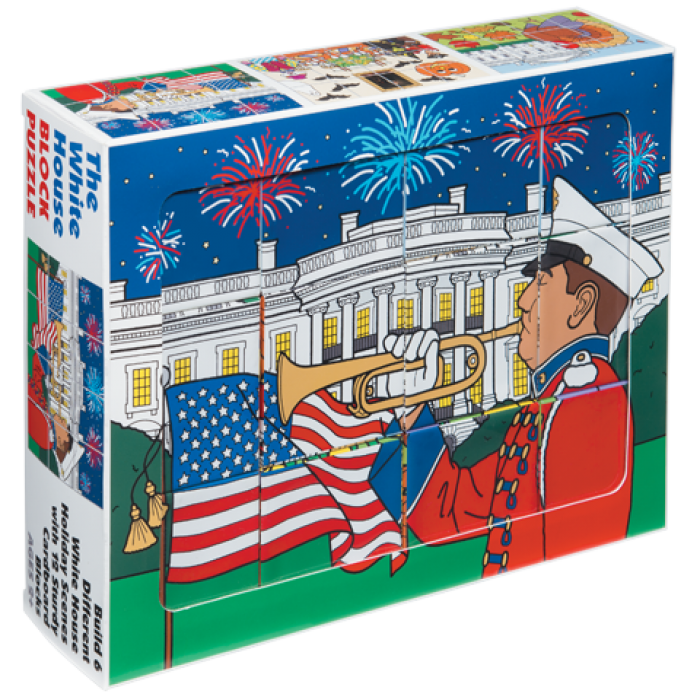 Puzzle clipart playing block. White house holiday the
