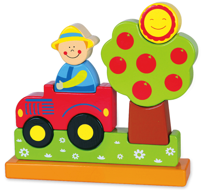Magnetic d farm smile. Puzzle clipart playing block