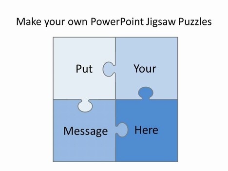 Puzzle clipart powerpoint. Free editable jigsaw pieces