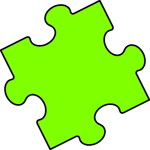 Puzzle clipart powerpoint. Green piece clip art