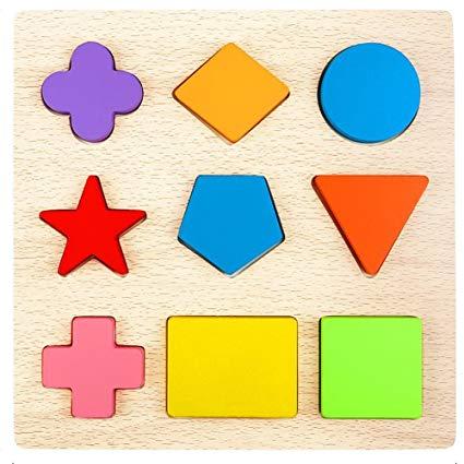 Lewo wooden shape puzzles. Puzzle clipart preschool