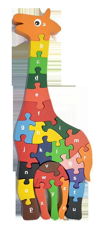 Giraffe alphabet red fish. Puzzle clipart problem solving