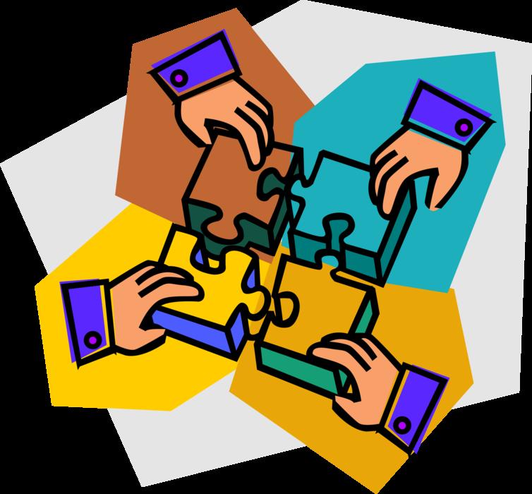 Hands assemble pieces of. Puzzle clipart problem solving