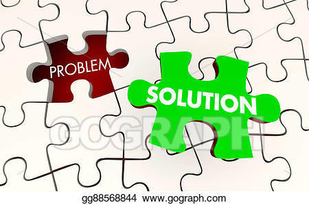 Stock illustration solution solved. Puzzle clipart problem solving