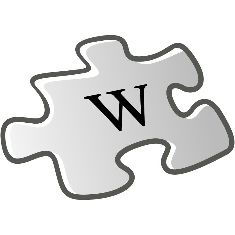 Puzzle clipart project summary. File wiki letter w
