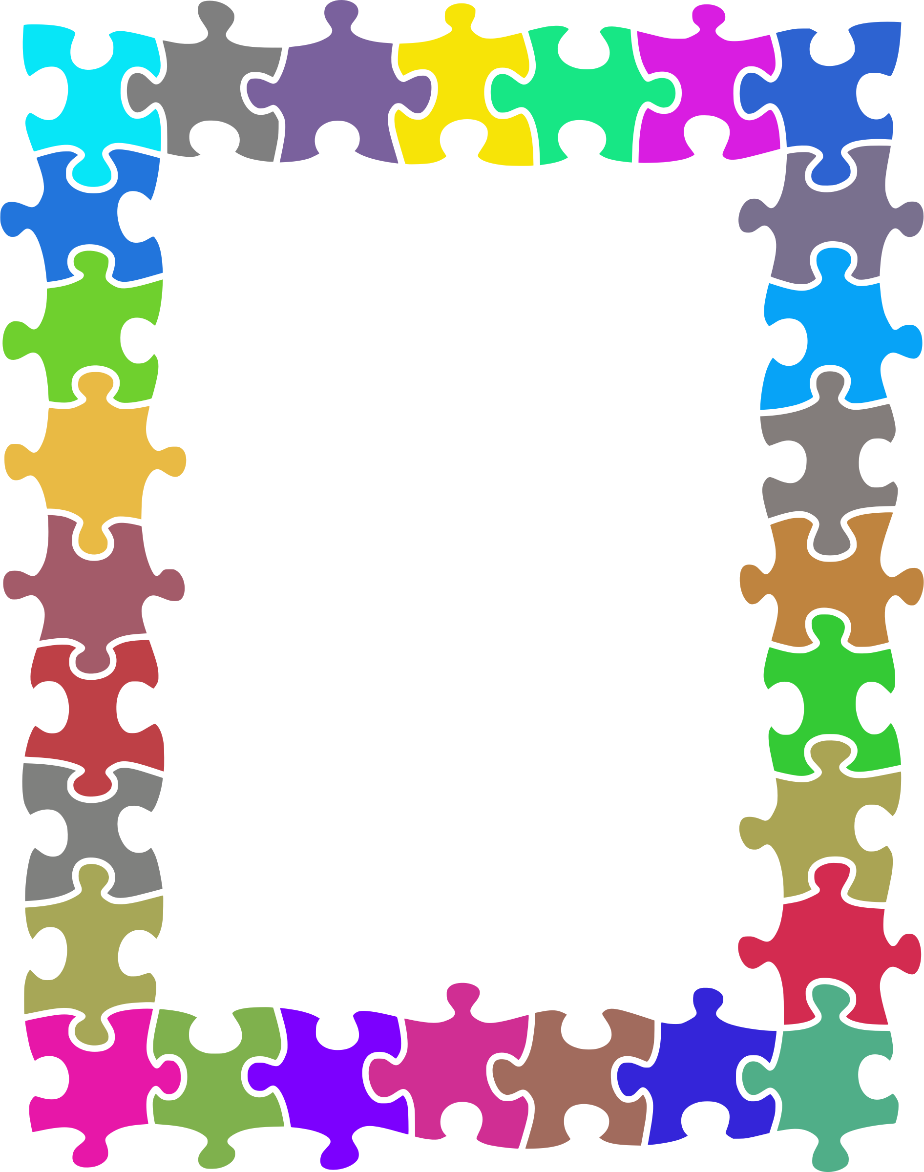 Puzzle clipart purple. Jigsaw frame random colours
