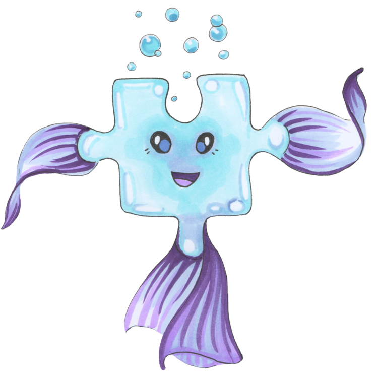 Waterpuzz prime is an. Puzzle clipart purple