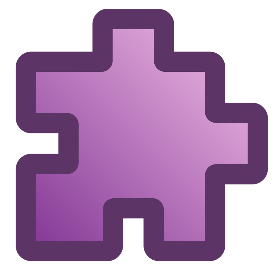 Puzzle clipart purple. Free stock photo illustration