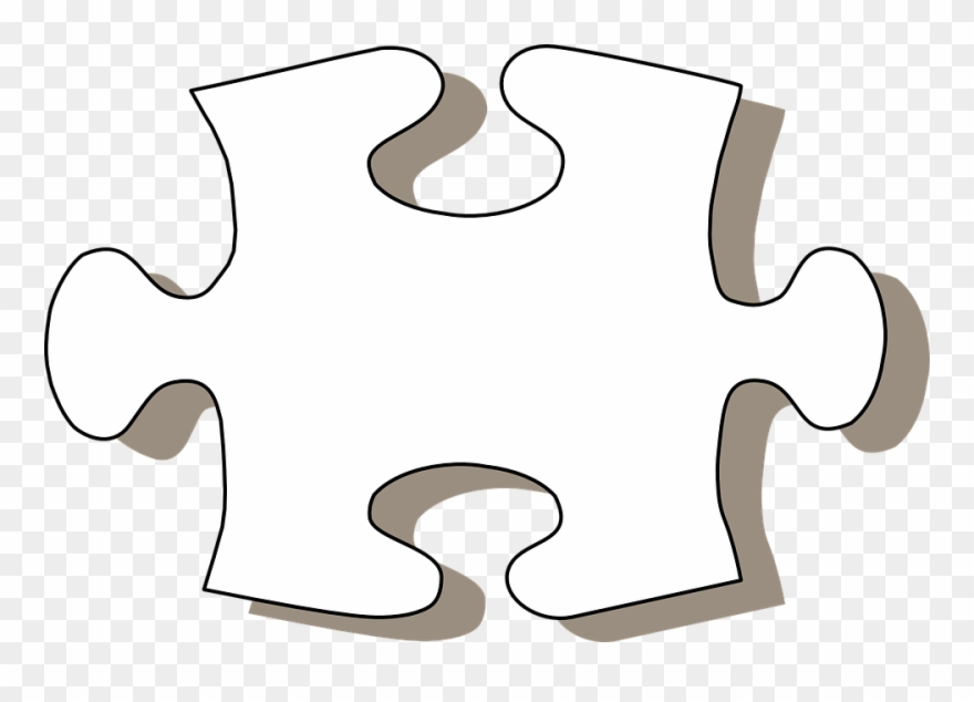 Black and white jigsaw. Puzzle clipart puzzle peice
