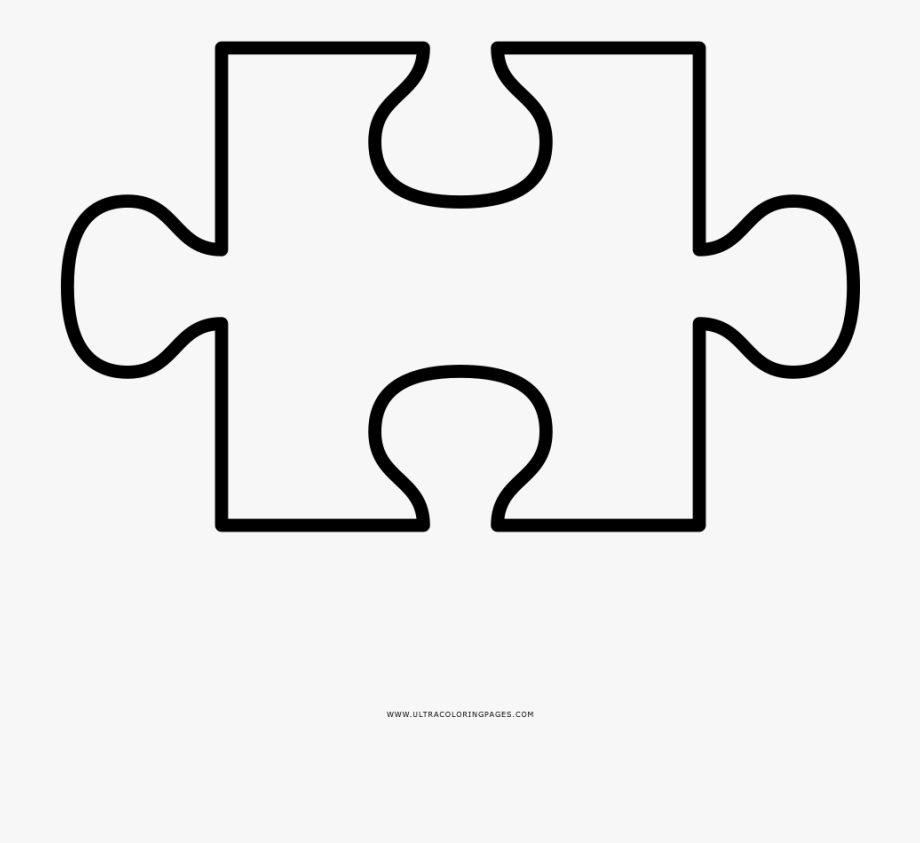 Piece cut out templates. Puzzle clipart puzzle template