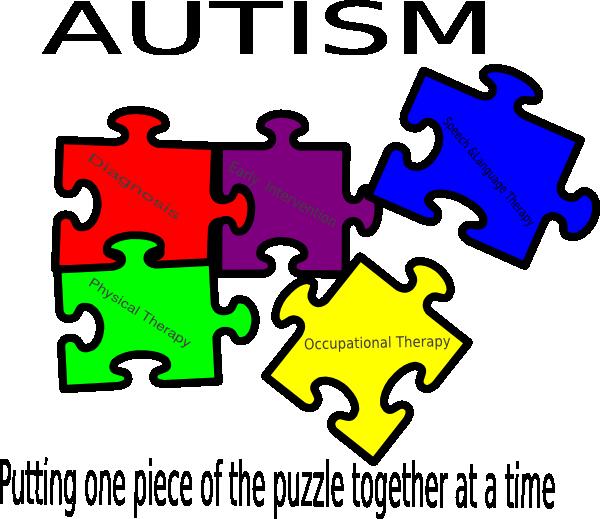 Puzzle clipart puzzle time. Autism putting one piece