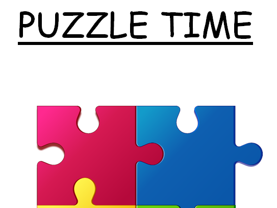 Puzzle clipart puzzle time. Series of brain teasers