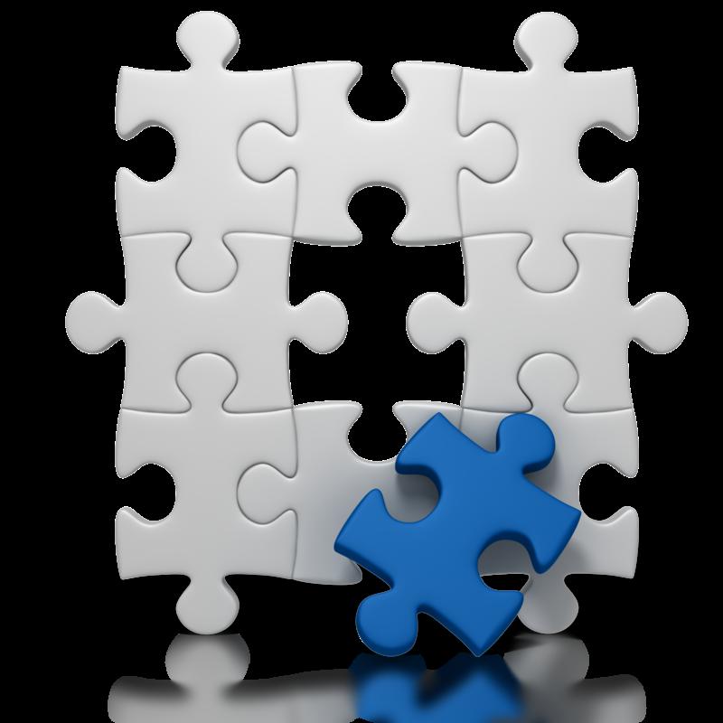 Lean certification mfg training. Puzzle clipart scenario