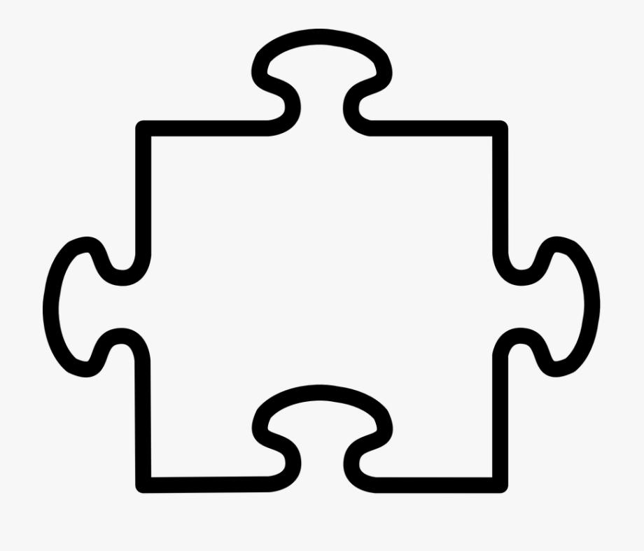 Puzzle clipart shape. Jigsaw part two pieces