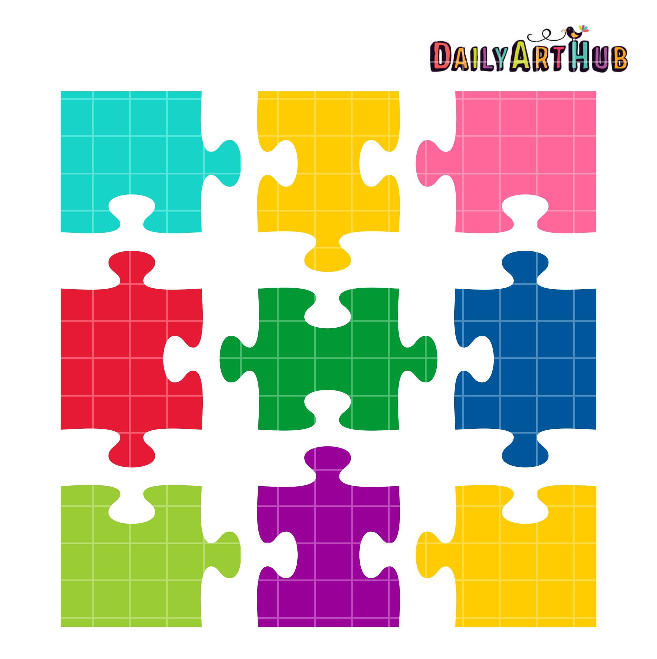 Puzzle clipart shape. Jigsaw shapes clip art