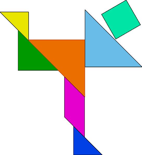 Puzzle clipart shape. Tangram game clip art