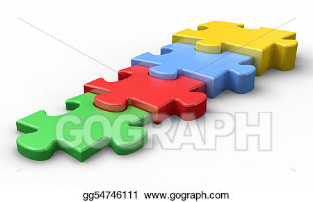 Stock illustrations house residential. Puzzle clipart structure