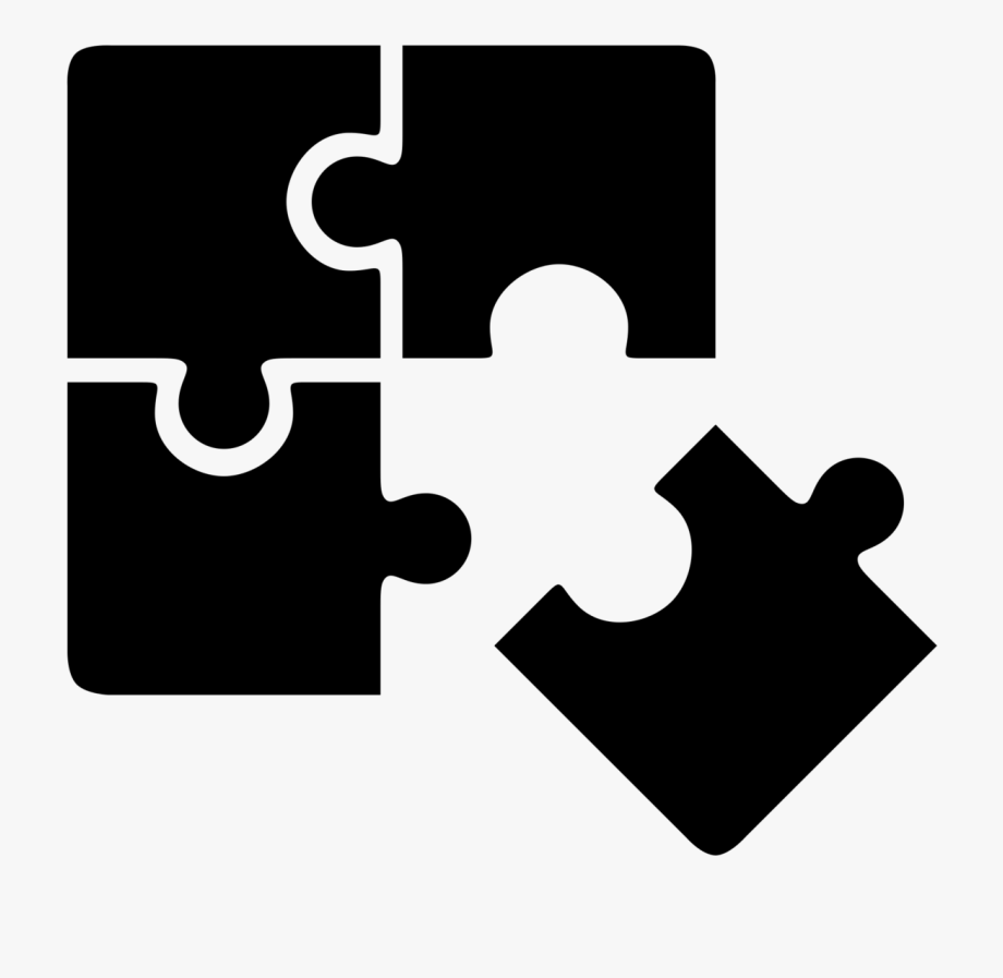 Puzzle clipart symbol. Jigsaw strategy icon free