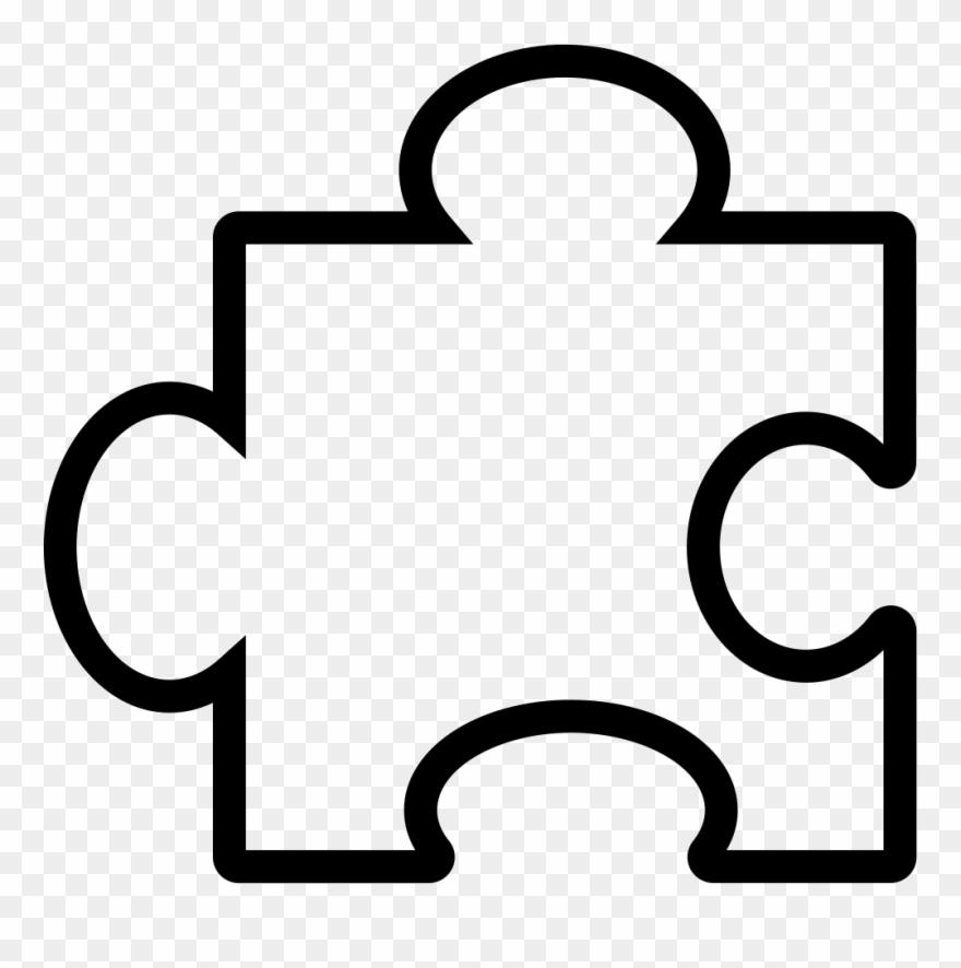 Puzzle clipart symbol. Piece outline svg png