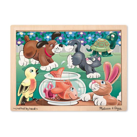 Playful pets jigsaw pieces. Puzzle clipart wooden puzzle
