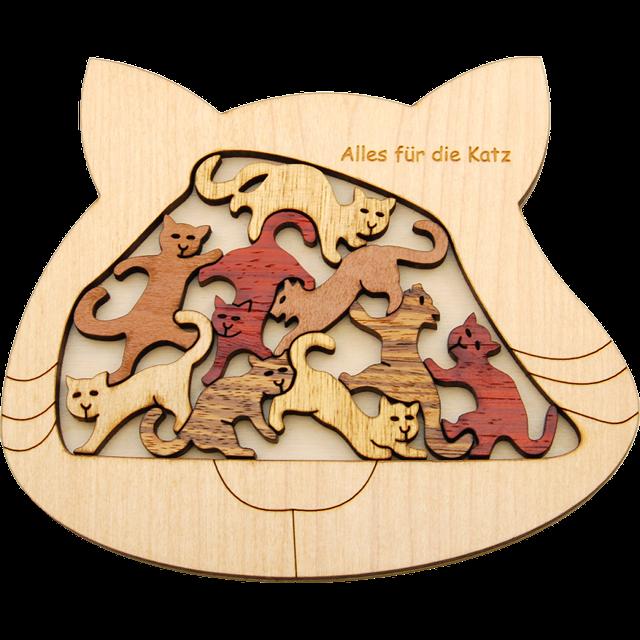 Alles fur die katz. Puzzle clipart wooden puzzle