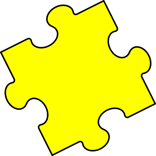 Puzzle clipart yellow. Piece clip art at