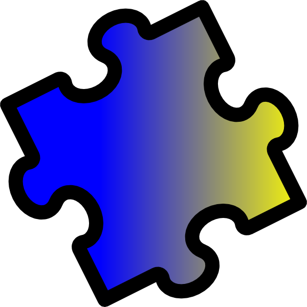 Puzzle clipart yellow. Blue to piece clip
