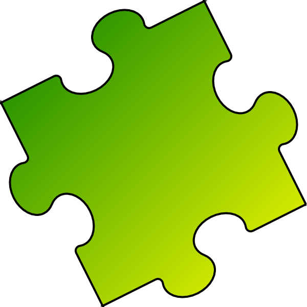 Puzzle clipart yellow. Green piece small clip