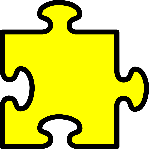 Piece clip art at. Puzzle clipart yellow