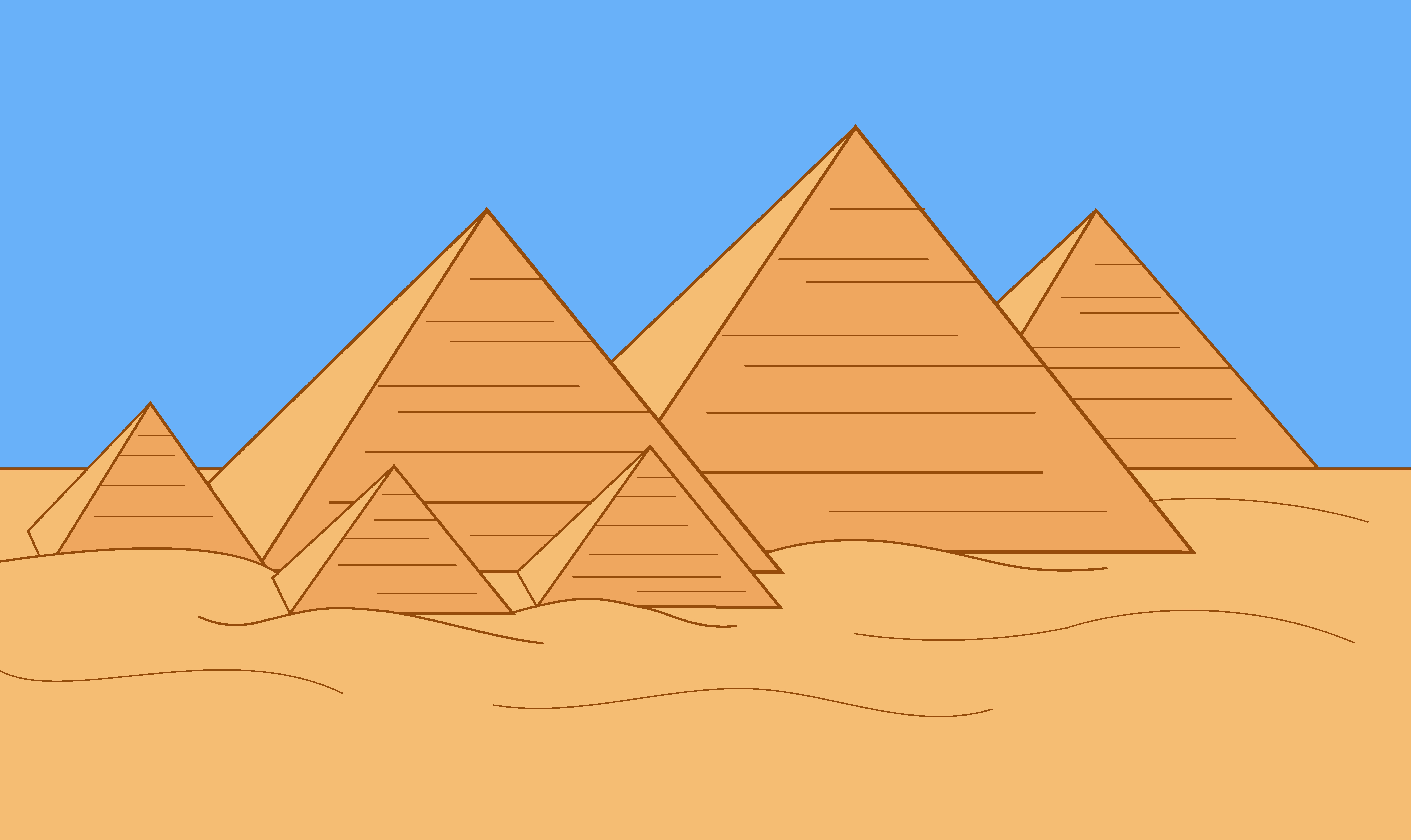 Pyramid clipart. Fresh collection digital coloring