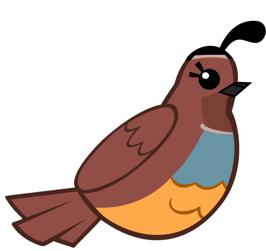 Quail clipart. Clip art cartoon by