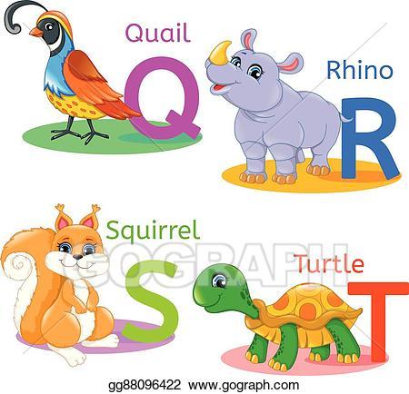 Eps illustration alphabet kids. Quail clipart kid