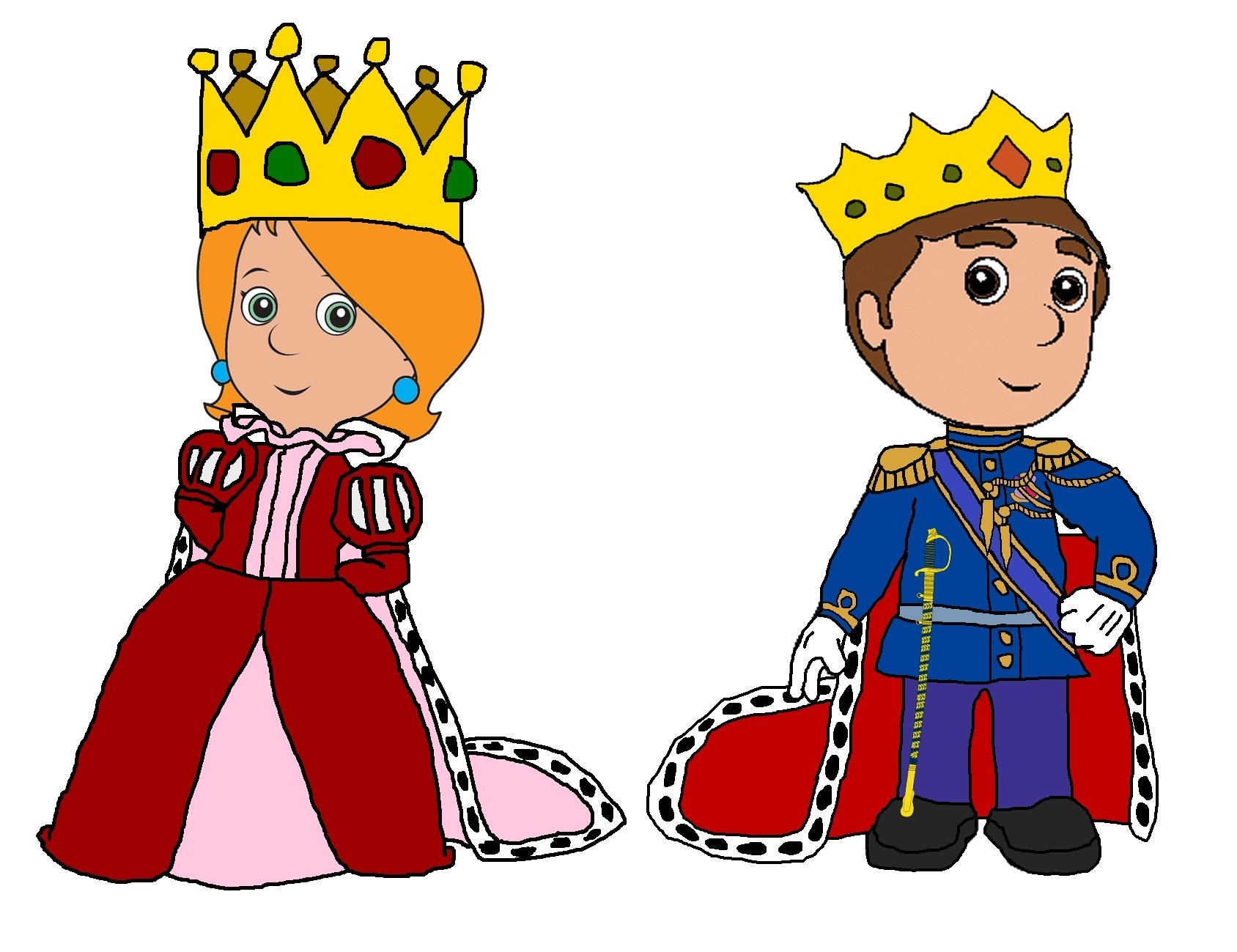Awesome design digital collection. Queen clipart