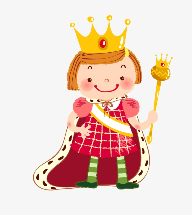 Cartoon decoration character png. Queen clipart
