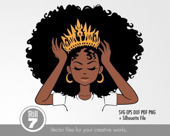 Pin on afro natural. Queen clipart african american