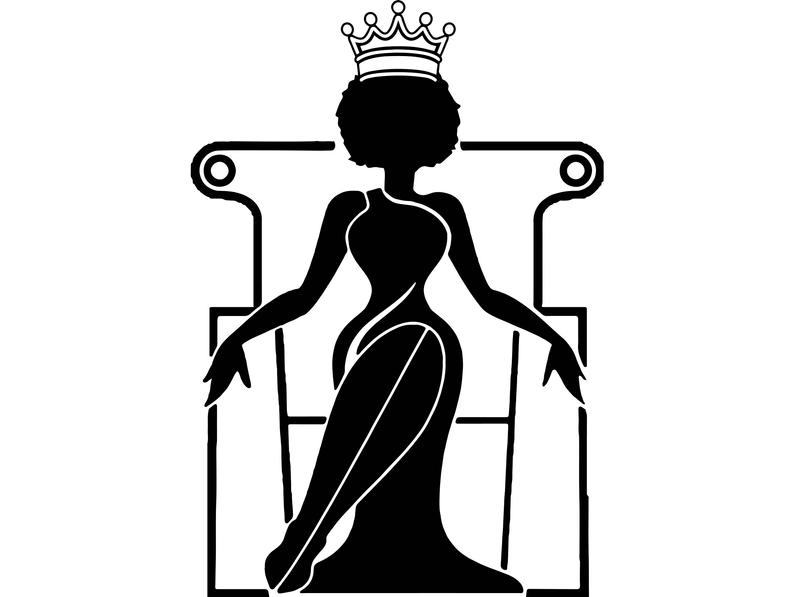 Afro woman svg princess. Queen clipart african american