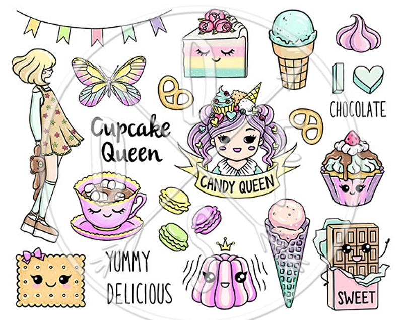 A pastel marshmallow chocolate. Queen clipart candy