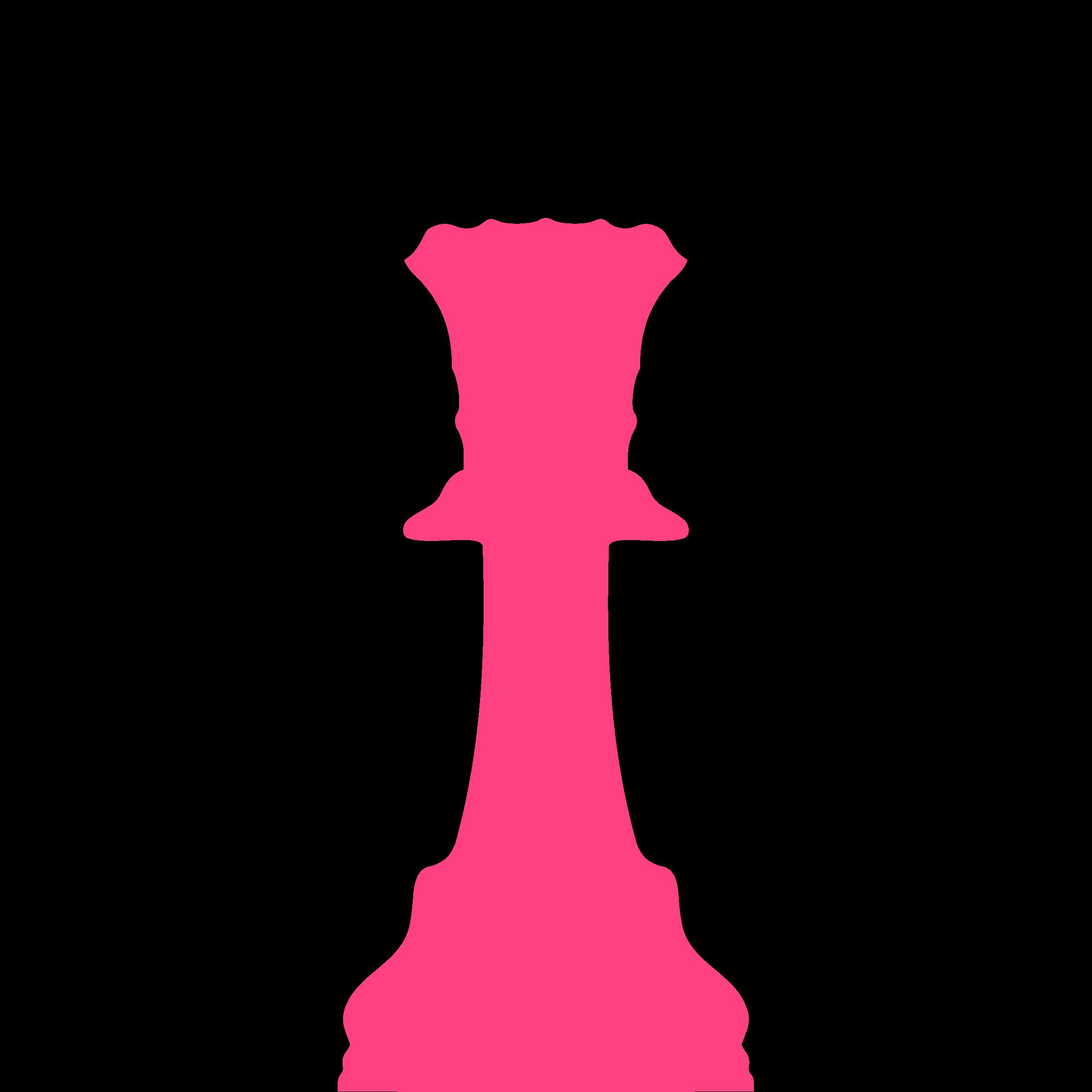 Queen clipart chess piece. Silhouette staunton dama big