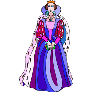 Shakespeare characters cliparts . Queen clipart colour
