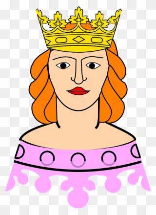 Free png clip art. Queen clipart head