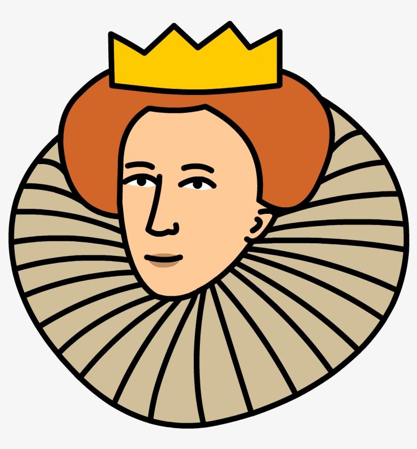 Elizabeth cartoon free . Queen clipart head