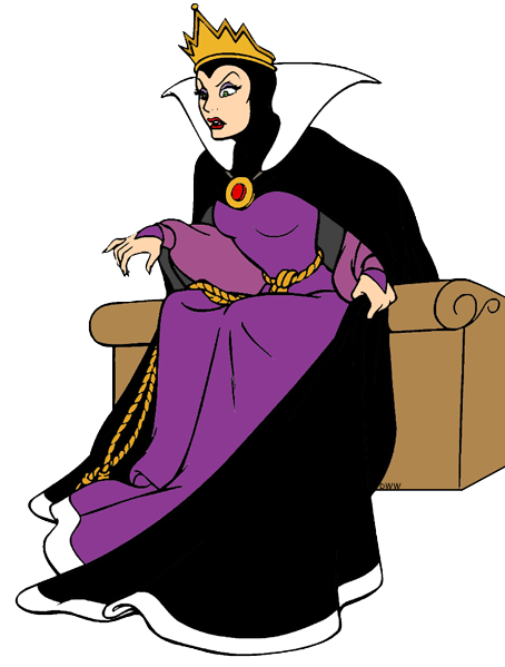 Evil witch and clip. Queen clipart huntsman